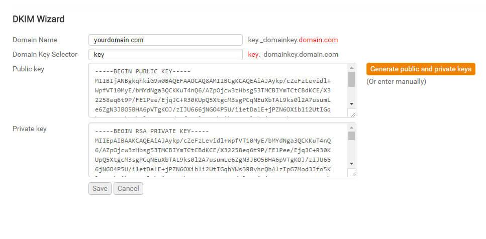 Configurare DKIM